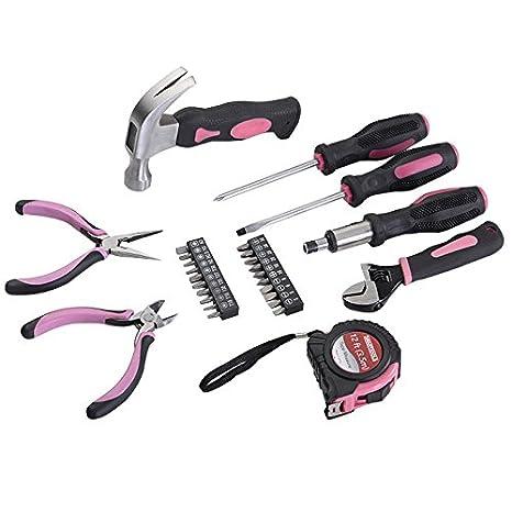 casart 25pc - Funda de transporte bolsa de herramientas destornillador Kit Rosa DIY: Amazon.es: Bricolaje y herramientas