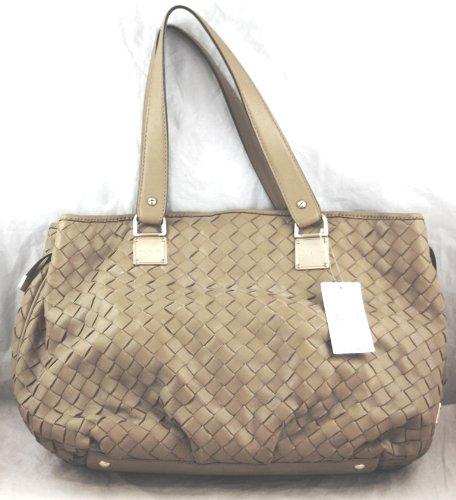849f362ff93b Michael Kors North South Newbury Large Leather Woven Tote Handbag in  Mushroom - Tan Weave: Amazon.ca: Shoes & Handbags