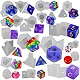 FUNSHOWCASE Resin Dice Mold Epoxy Casting Kit Set
