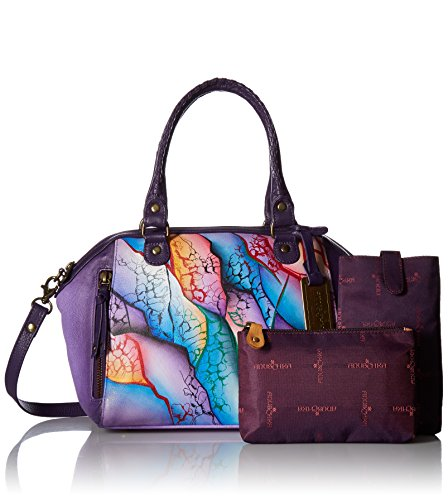 Satchel Leather Cosmic Mini Handpainted Quest Quest Convertible Cosmic Anuschka zvHAFxWqwn