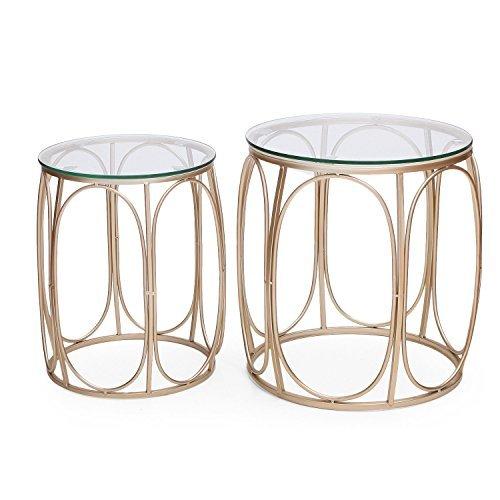 (Adeco Classic Nesting Side Table Set (2 Pcs),)