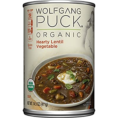 Wolfgang Puck, Thick Hearty Lentil & Vegetable Soup, Organic, 14.5 oz