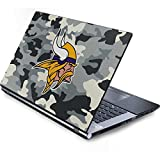 Skinit NFL Minnesota Vikings Generic 15in Laptop (13.7in X 9.5in) Skin - Minnesota Vikings Camo Design - Ultra Thin, Lightweight Vinyl Decal Protection