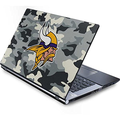 Skinit NFL Minnesota Vikings Generic 15in Laptop (13.7in X 9.5in) Skin - Minnesota Vikings Camo Design - Ultra Thin, Lightweight Vinyl Decal Protection