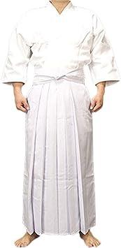 Uniformes Ropa Tradicional Espadachín Japonés, Karate Ninja De Aikido De La Calidad De Los Hombres Traje De Entrenamiento Traje De Falda Chaqueta De Kendo Camisa Blanca De Algodón,Blanco,OneSize: Amazon.es: Deportes y