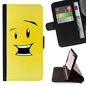 Momo Phone Case / Flip Funda de Cuero Case Cover - Feliz Divertido Smiley - HTC One Mini 2 M8 MINI