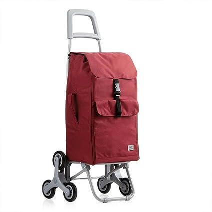 Carro de la compra Carro plegable para uso general de 6 ruedas con rodamientos de rueda