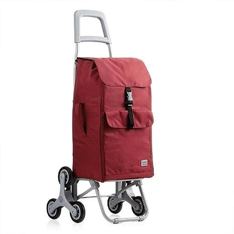 9a12f34a6c5ad Carro de la compra Carro plegable para uso general de 6 ruedas con  rodamientos de rueda