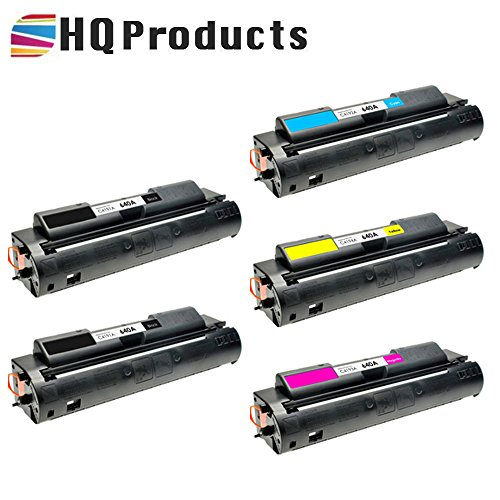 HQ Products Remanufactured Replacement HP 640A 5Pk Set (2xC4191A, C4192A, C4194A, C4193A) B, C, Y, M Toner Cartridges for HP Color LaserJet 4500, 4500DN, 4500HDN, 4500N, 4550 Series Printers.