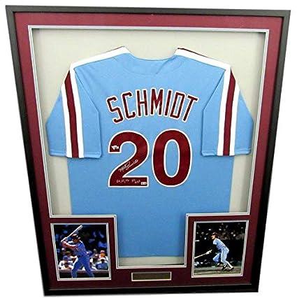 sale retailer 564b6 6c655 Mike Schmidt Phillies Signed/Autographed 1980 Framed Blue ...