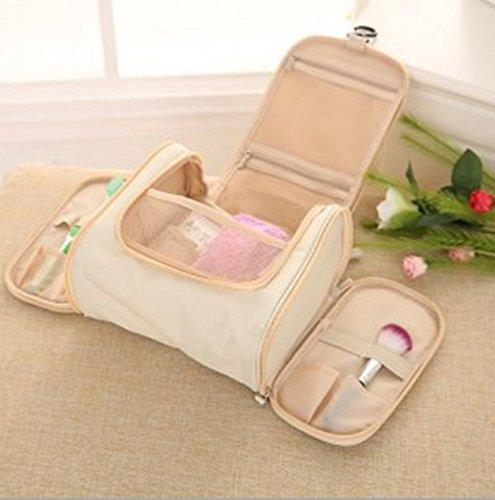Lavaggio Bag borsa da viaggio Wash sacchetto esterno della lavata impermeabile borsa da viaggio (riso bianco)
