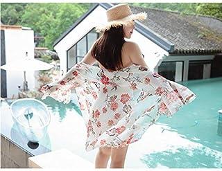Oudan Costume da Bagno Gonna a Due Pezzi Grafica Stile Thin Style One Piece con la Camicia, Bianco a Due Pezzi, XXXL (Colore : Come Mostrato, Dimensione : Taglia Unica)