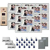 Apartment Video Intercom 17 7 inch door panel color monitor kit