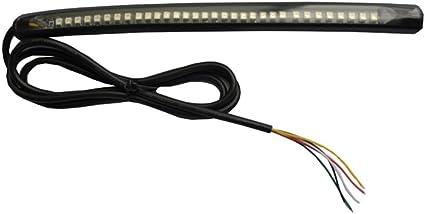 Tira de luz LED flexible de freno y luz trasera para correr ...