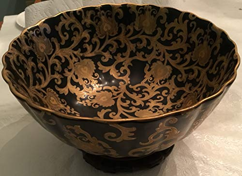 Lovely Amita Black and Gold Large Decorative Bowl