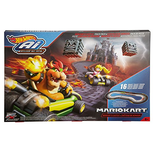 Hot Wheels Mario Kart Bowsers Castle Track Pack   Ai Intelligent Race System  16 Tracks