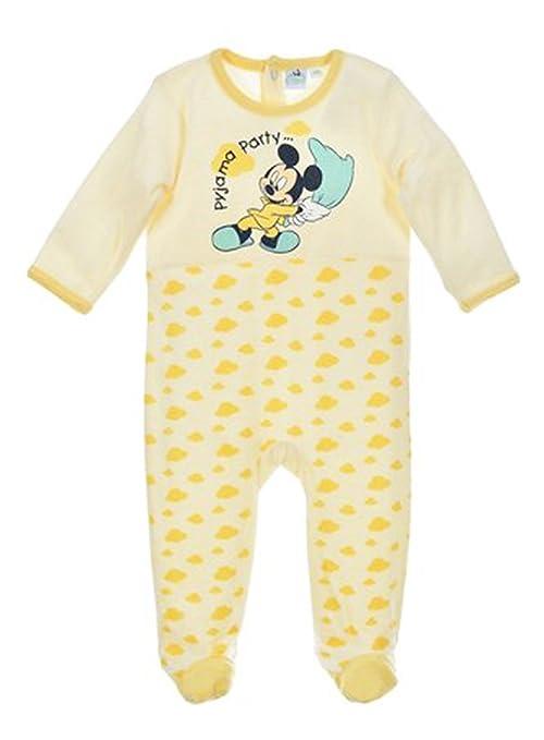 Pijama terciopelo bebé niño Mickey azul y amarillo de 3 a 23 meses amarillo amarillo Talla