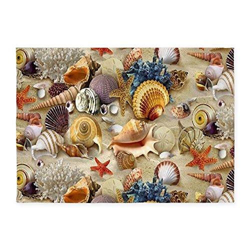 CafePress-Seashells-And-Starfish-Decorative-Area-Rug-5x7-Throw-Rug