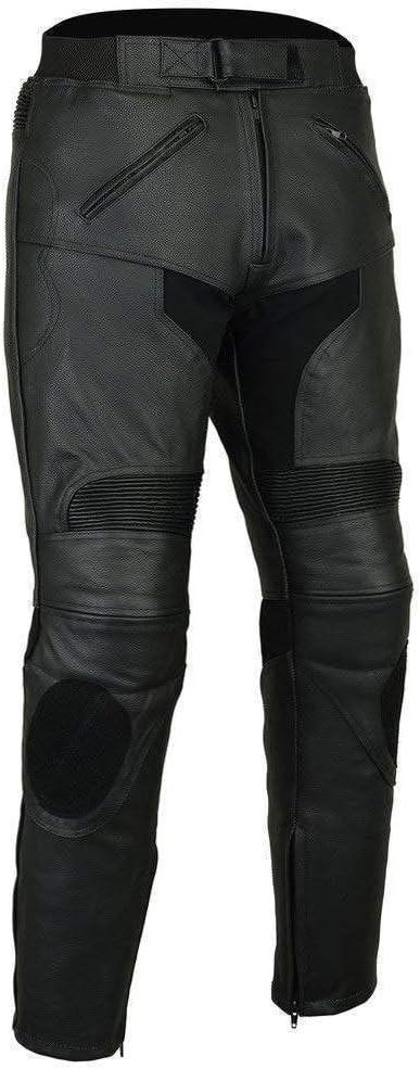 Bikers Gear Australia - Pantalones Deportivos de Piel para Hombre, con protección extraíble CE1621-1