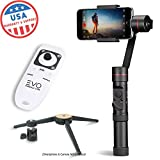 EVO SP-PRO Gen2 3 Axis iPhone Gimbal Stabilizer works with iOS & Android Smartphones, Advanced EVO Camera APP | 1 Year USA Warranty | Bundle Includes: EVO SP-Pro + Wireless Remote + Tripod Stand