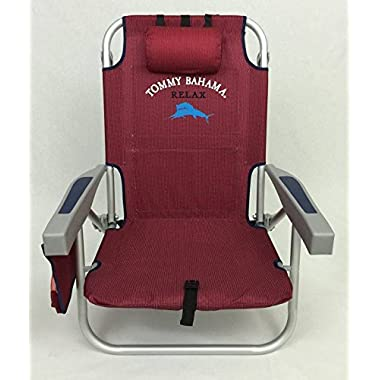 Tommy Bahama Backpack Beach Chair / Scarlet Red (Red)