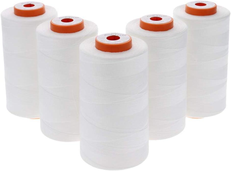 Sewfil polidacor 120-5 conos de hilo de coser de poliéster ...