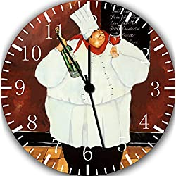 Borderless Chef Frameless Wall Clock E43 Nice for Decor Or Gifts