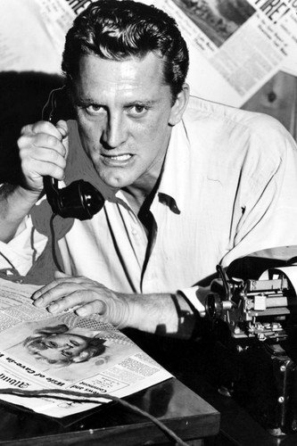 (Kirk Douglas in Ace in the Hole holding vintage telephone 24x36)