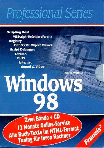 Windows 98: Script Host, VBScript-Befehlsreferenz, Registry, OLE/COM Objekt ViewerScript Debugger, DirectX, BIOS, Internet, Sound und Video