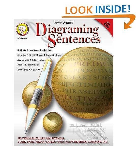 Diagramming sentences amazon diagraming sentences ccuart Images