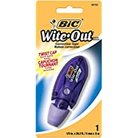 BIC Wite-Out Brand Mini Twist Correction Tape, White, 1-Count