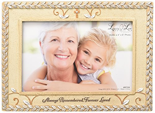 - Enesco Legacy of Love by Gregg Gift Bereavement Stone Resin Photo Frame, 4x6