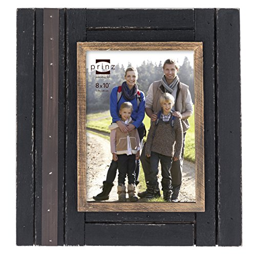 Woodland Natural Wood (Prinz Woodlands Black Solid Wood Frame with Natural Border, 8 by 10-Inch)