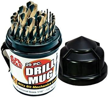 Alfa Tools TLCO50309 3//16 Cobalt M42 Taper Length Drill 12 Pack