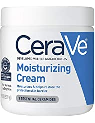 CeraVe Moisturizing Cream | Body and Face Moisturizer for Dry Skin | Body Cream with Hyaluronic Acid, Niacinamide, and Ceramides | 19 Ounce