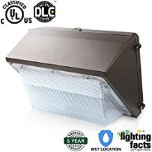 Enegitech 45W LED Wall Pack Light 300W MH/HPS/HID Replacement 4500LM 5000K (Crystal White Glow), UL Listed and DLC Qualified Wall Lights Waterproof Outdoor Security Lighting