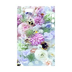 Pretty Flower CHA3010925 3D Art Print Design Phone Back Case Customized Hard Shell Protection Iphone 5,5S