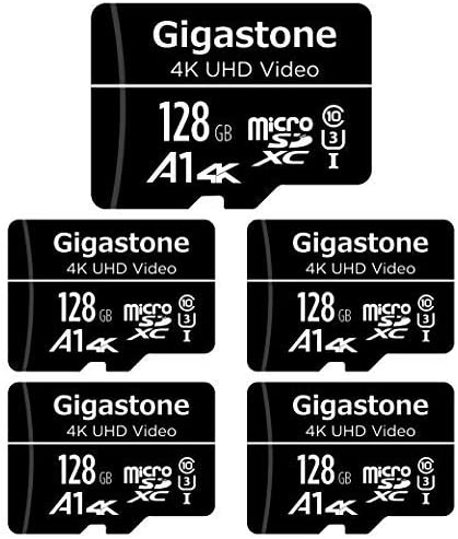 Gigastone 128gb 5 Pack Micro Sd Card 4k Uhd Video Cctv Computers Accessories