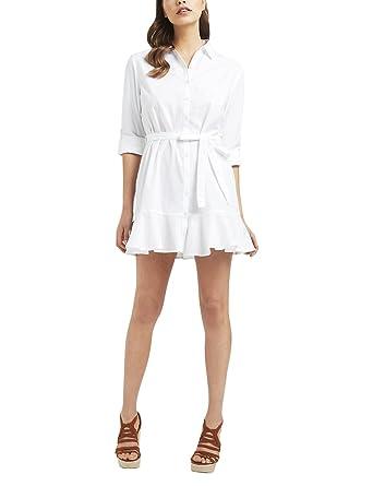 Lipsy Womens Flute Hem Shirt Dress