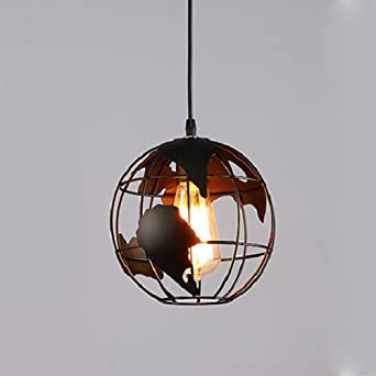 Seesung Kreative Loft Rustikalen Retro Globus Kronleuchter Metall