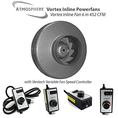 Vortex Powerfans VTX600 Vortex 497 CFM Powerfan, 6 Inch by Vortex