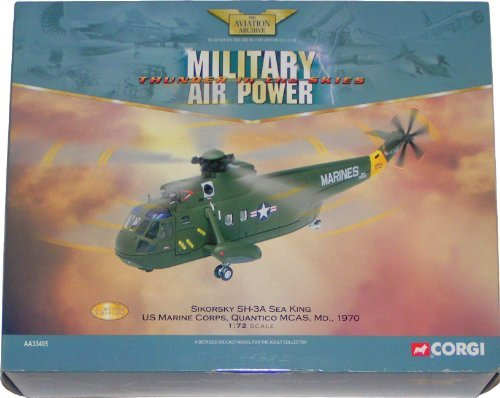 Corgi Die-Cast Metal Sikorsky SH-3A Sea King Marine Helicopter 1:72 Scale Model From The Aviation Archive