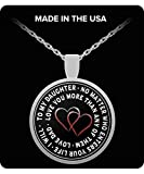 dad gifts from Daughters - Round pendant necklace-Daddy's - Best Reviews Guide