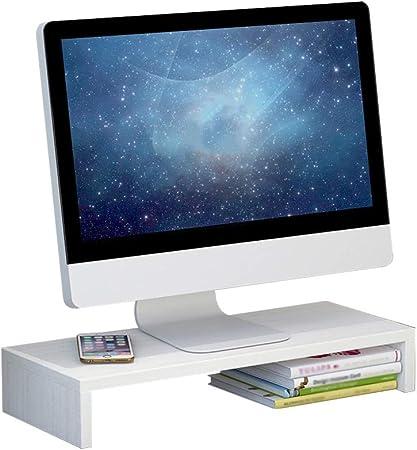 CSQHCZS-XSPZGJ Soporte for Monitor con Almacenamiento for Teclado   TV PC Computadora portátil Soporte de Pantalla   Organizador De Almacenamiento for Escritorio  Capacidad De Peso Máx. 55 Lb/25 Kg: Amazon.es: Hogar