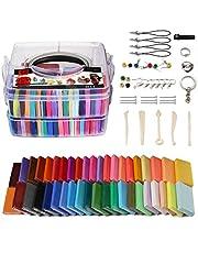 Polymeer Klei Set - 42 Kleuren Modelleren Klei Zachte en Niet-giftige DIY Oven Bak Klei Kit met Modelleren Gereedschap en Opbergdoos, Verjaardag voor Kinderen (Multi kleuren)