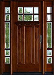 Exterior Mahagany Front Wood Entry Door M36