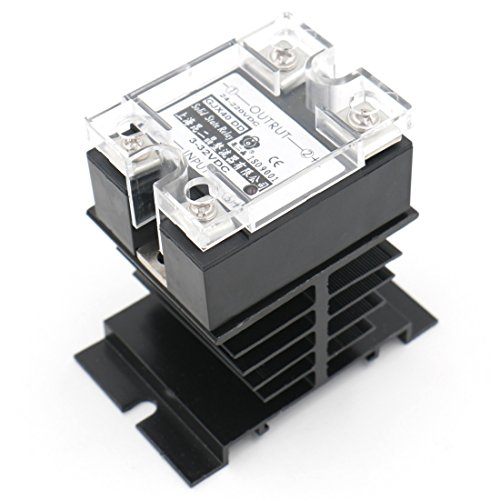 Baomain SSR-40DD 40A Solid State Relay DC 3-32V DC 24-220V + Heat Sink by Baomain (Image #2)