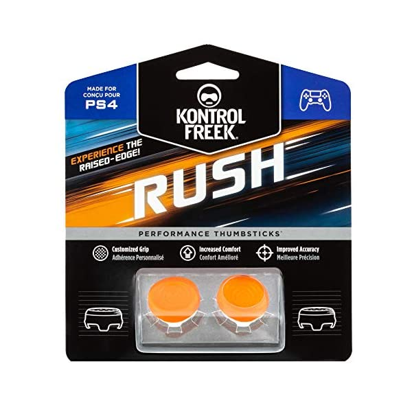 KontrolFreek Rush Performance Thumbsticks for PlayStation 4 (PS4) and PlayStation 5 (PS5) | Performance Thumbsticks | 2… 1