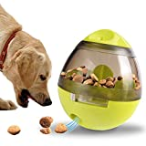 SCOMAS Pet Treat Ball Interactive Food Dispensing Dog Toy for Dogs Cats Increases IQ Mental Stimulation Pets Treat-dispensing Ball, Creative Tumbler Design Easy to Clean (Pet Leaky Feeder, Lime)
