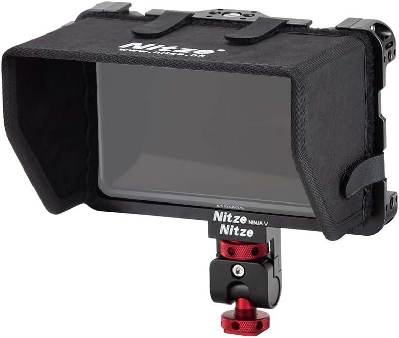 Nitze Monitor cage for Atomos Ninja V and Shinobi with Sunhood and Monitor Holder Mount Ninja V-Kit
